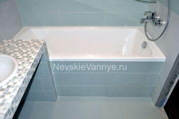 Экран под ванну при отделке ванной комнаты плиткой