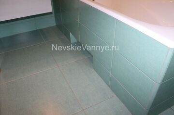 Экран ванной при отделке ванных комнат под ключ
